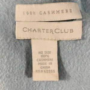 Charter Club Accessories - Charter club cashmere baby blue scarf